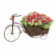 Композиция Велосипед с букетами роз