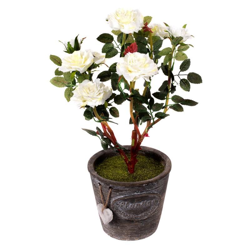 Роза в горшке искусственная