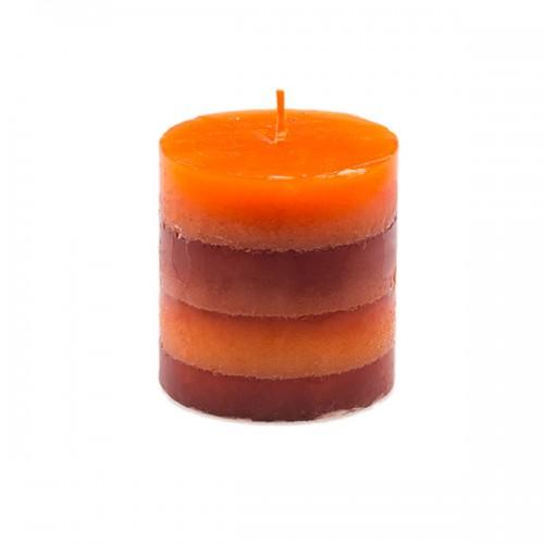 Свеча полосатая 7.5х7.5 см