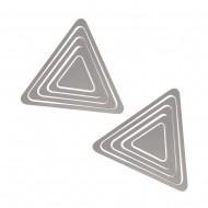 Украшение настенное Треугольники 10 шт