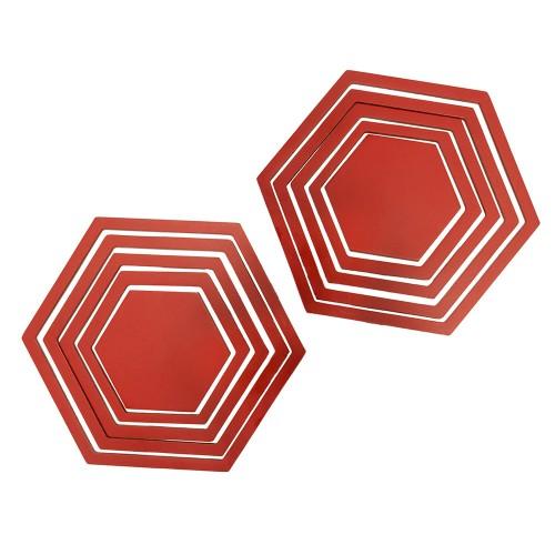 Украшение настенное Шестиугольники 10 шт