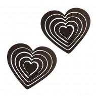 Украшение настенное Сердца 10 шт