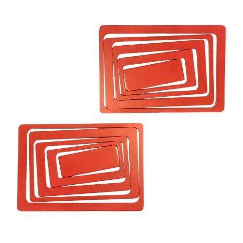 Украшение настенное Прямоугольники 10 шт