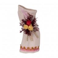 Ваза декоративная с сухоцветом 20 см