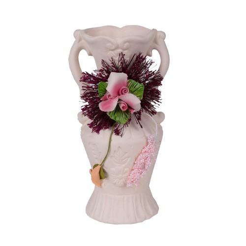 Ваза декоративная с сухоцветом 17,5 см