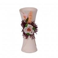 Ваза декоративная с сухоцветом 15 см