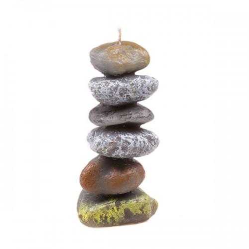 Свеча в виде камней