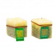 Свеча Зеленый чай 7.5х8.5х7.5 см