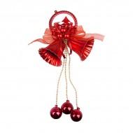 Новогоднее украшение Колокольчик с шариками 36 см