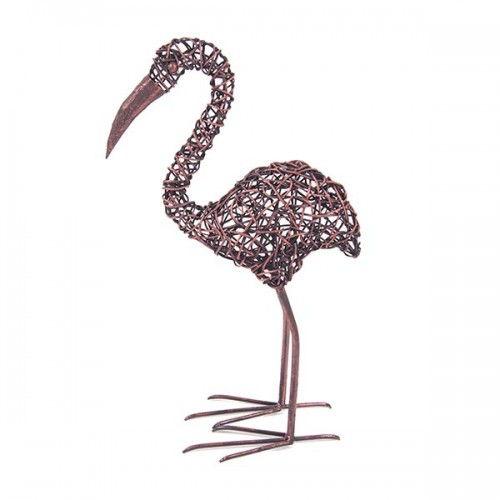 Птица Фламинго, плетёная 68х34х16 см