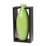 Ваза декоративная в рамке, зелёная 25х12 см