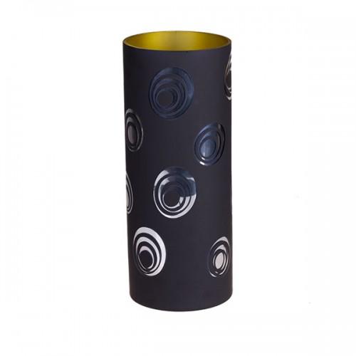Ваза для цветов, чёрная 30 см