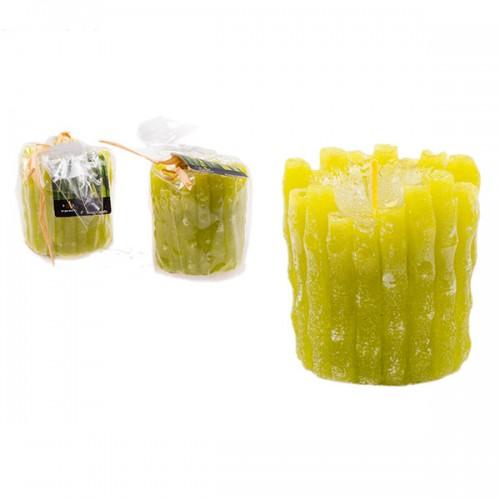 Свеча зелёная 7х6 см