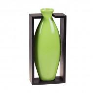 Ваза декоративная в рамке, зелёная 29х14 см