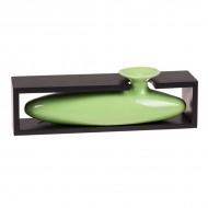 Ваза декоративная в рамке, зелёная 7,5х28 см