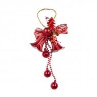 Новогоднее украшение Колокольчики с шариками 26 см