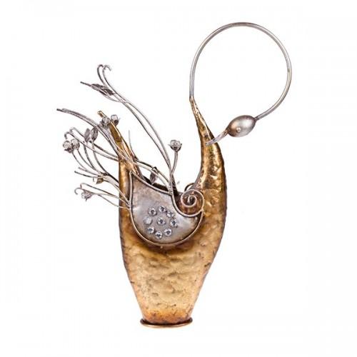 Статуэтка металлическая Лебедь 50х36х8 см