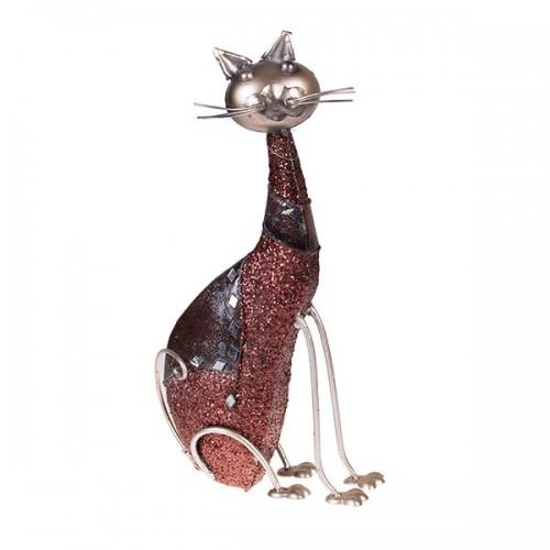Статуэтка металлическая Кошка 38х22х9 см