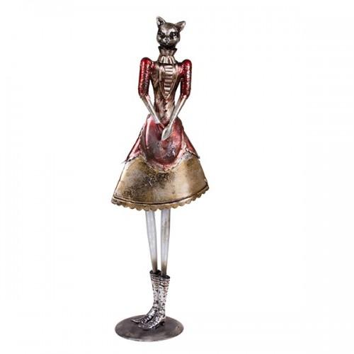 Статуэтка металлическая Кошка в платье 65х21х14 см