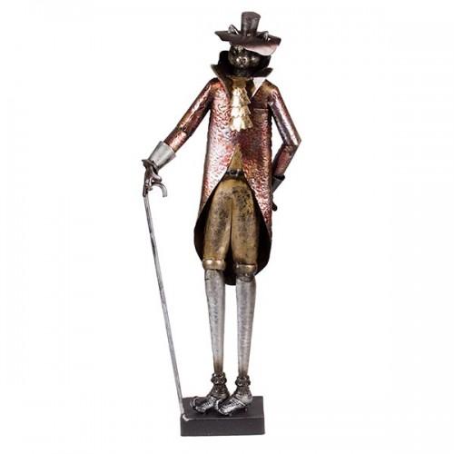 Статуэтка металлическая Кот в костюме 69х26х12 см