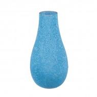 Ваза для цветов стеклярус голубая 40 см