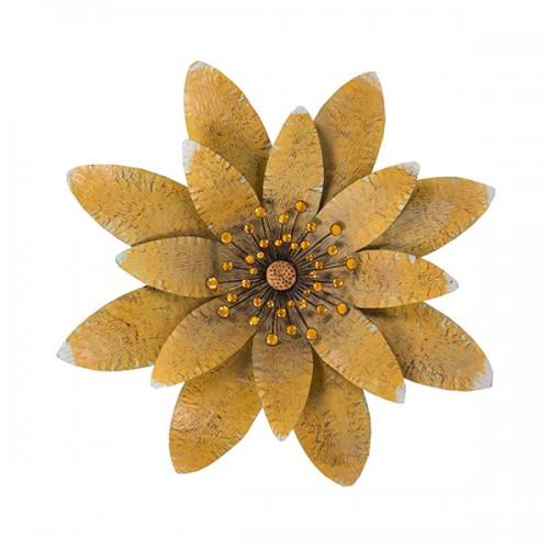 Настенное металлическое украшение Цветок 73х73 см