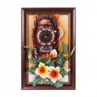 Панно настенное Часы 60х40 см