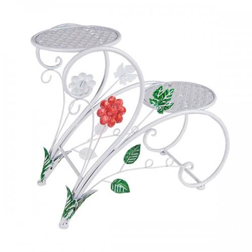 Подставка для цветов с 2 полочками 45х42х20 см