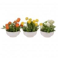 Букет искусственных цветов в горшке 23х21х21 см