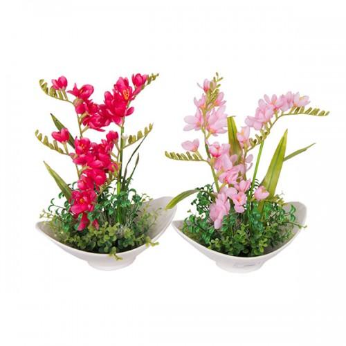 Букет искусственных цветов в вазе 36х30 см