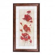 Панно настенное Цветы 67х36.5 см
