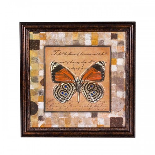Панно настенное Бабочка 35х35 см