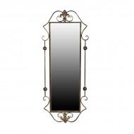 Зеркало настенное металлическое 116х46х5 см