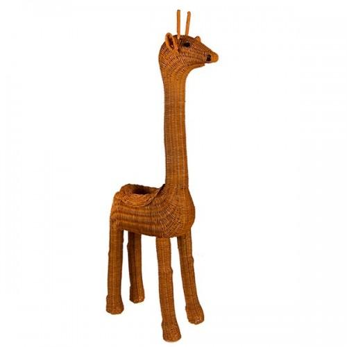 Интерьерное украшение из ротанга Жираф 105х35х18 см
