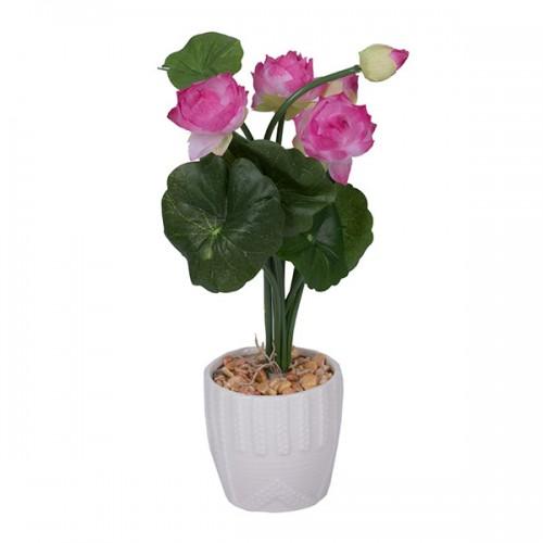 Букет искусственных цветов в горшке 26х9х9 см