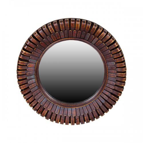 Зеркало настенное из дерева 62 см