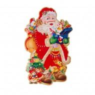 Двухстороннее декоративное панно Дед Мороз 90 см