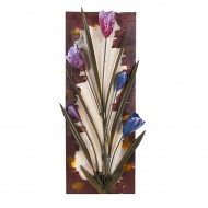 Панно металлическое Тюльпаны 62х23 см