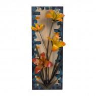 Панно металлическое Цветы 62х23 см