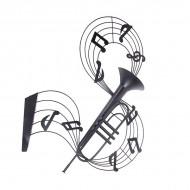 Настенное интерьерное украшение Музыка 92х75 см
