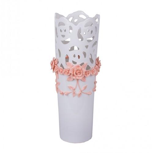 Ваза с декоративной лепкой 43х15 см