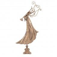 Статуэтка металлическая Ангел с горном 80х40х12 см