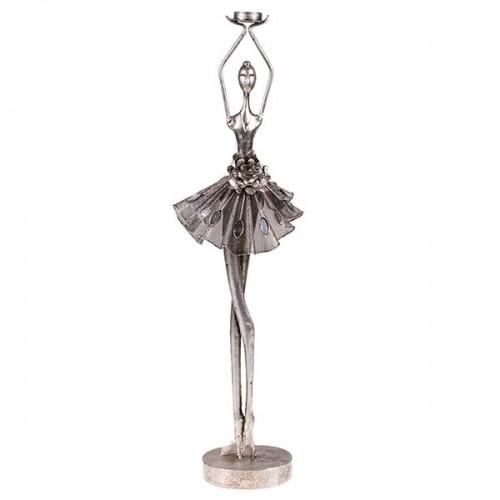 Статуэтка металлическая Балерина с подсвечником