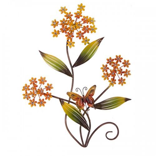 Настенное металлическое украшение Цветы 73х56 см