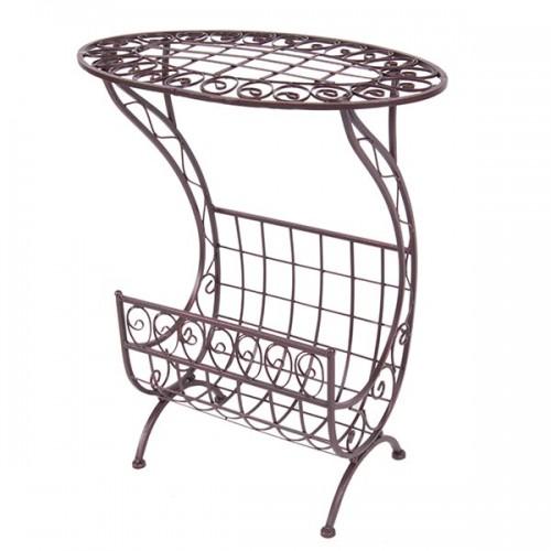 Столик с газетницей овальный 65х54х31 см
