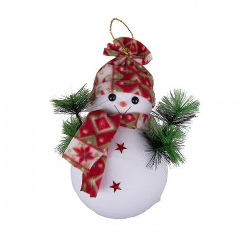 Новогоднее украшение Снеговик 32 см