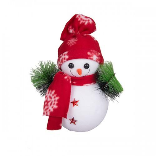 Новогоднее украшение Снеговик 28х13 см