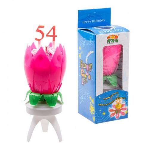 Свеча цветок