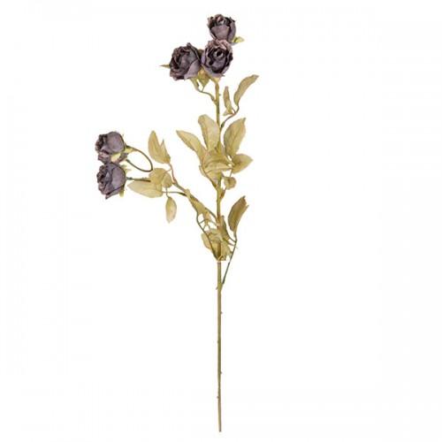 Искусственная Роза кустовая синяя 62 см