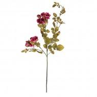 Искусственная Роза кустовая розовая 95 см
